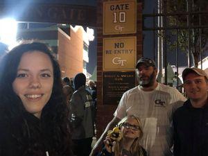Timothy attended Georgia Tech vs. Virginia - NCAA Football on Nov 17th 2018 via VetTix
