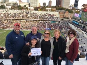 Christopher attended Georgia Tech vs. Virginia - NCAA Football on Nov 17th 2018 via VetTix