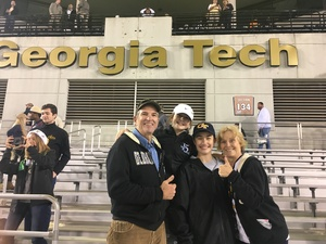James attended Georgia Tech vs. Virginia - NCAA Football on Nov 17th 2018 via VetTix