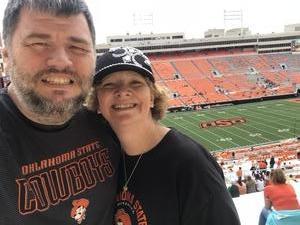 Richard attended Oklahoma State University Cowboys vs Iowa State - NCAA Football on Oct 6th 2018 via VetTix