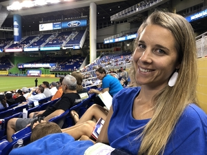 Carly attended Miami Marlins vs. Cincinnati Reds - MLB on Sep 21st 2018 via VetTix