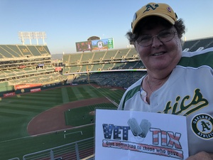 Patricia attended Oakland Athletics vs. Minnesota Twins - MLB on Sep 21st 2018 via VetTix