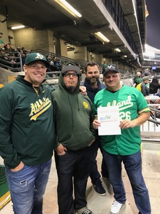 STEVE attended Oakland Athletics vs. Minnesota Twins - MLB on Sep 21st 2018 via VetTix