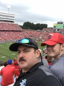 John attended NC State Wolfpack vs. Boston College - NCAA Football - Time Tba on Oct 6th 2018 via VetTix