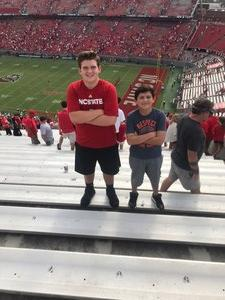 Johni attended NC State Wolfpack vs. Boston College - NCAA Football - Time Tba on Oct 6th 2018 via VetTix