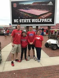 Fordys attended NC State Wolfpack vs. Boston College - NCAA Football - Time Tba on Oct 6th 2018 via VetTix