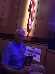 Thomas attended The Phoenix Symphony Presents- Sinatra and Friends on Sep 23rd 2018 via VetTix