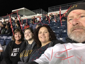 Andy & Beth attended Army vs. Navy Cup Vli - Collegiate Soccer on Oct 12th 2018 via VetTix