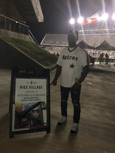 Sharret attended Rice Owls vs. UTSA - NCAA Football on Oct 6th 2018 via VetTix