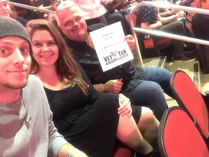 James attended Fall Out Boy -the M a N I a Tour With Machine Gun Kelly on Oct 6th 2018 via VetTix
