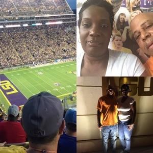Joshua attended LSU Tigers vs. Louisiana Tech - NCAA Football on Sep 22nd 2018 via VetTix