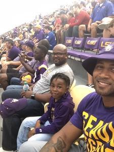 christopher attended LSU Tigers vs. Louisiana Tech - NCAA Football on Sep 22nd 2018 via VetTix
