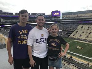 Michael attended LSU Tigers vs. Louisiana Tech - NCAA Football on Sep 22nd 2018 via VetTix