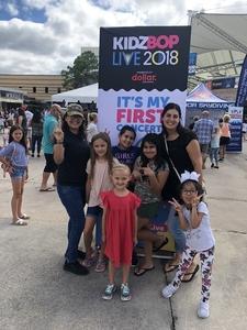 Rosalinda attended Kidz Bop 9. 23. 18 @ Cwmp - Houston, Tx on Sep 23rd 2018 via VetTix