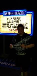 Frank attended Klos Presents: Deep Purple and Judas Priest on Sep 27th 2018 via VetTix