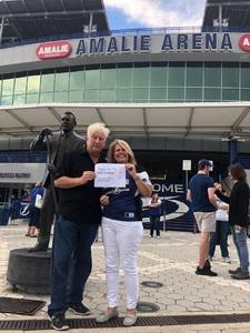 Bobby attended Tampa Bay Lightning vs. Florida Panthers - NHL Preseason on Sep 25th 2018 via VetTix