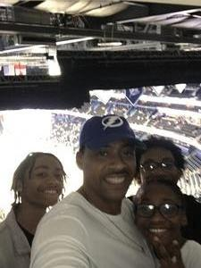 Henry attended Tampa Bay Lightning vs. Florida Panthers - NHL Preseason on Sep 25th 2018 via VetTix
