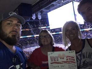 Deborah attended Tampa Bay Lightning vs. Florida Panthers - NHL Preseason on Sep 25th 2018 via VetTix