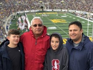 Robert attended University of California Berkeley Golden Bears vs. Stanford - NCAA Football on Dec 1st 2018 via VetTix