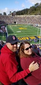 Sharon attended University of California Berkeley Golden Bears vs. Stanford - NCAA Football on Dec 1st 2018 via VetTix