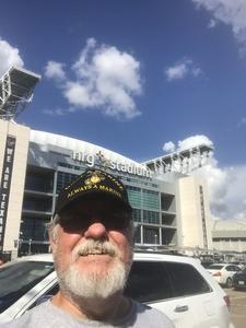 Grady attended Sam Houston State University Bearkats vs Stephen F. Austin Lumberjacks - NCAA Football - Battle of the Piney Woods on Oct 6th 2018 via VetTix