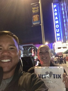 James attended America at the Paramount Theatre on Sep 27th 2018 via VetTix