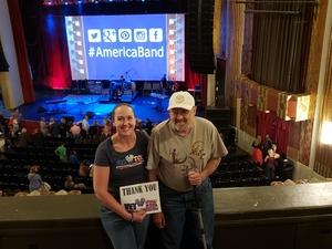 Beth attended America at the Paramount Theatre on Sep 27th 2018 via VetTix