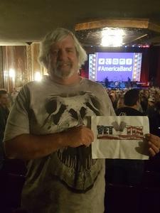 Ernie attended America at the Paramount Theatre on Sep 27th 2018 via VetTix