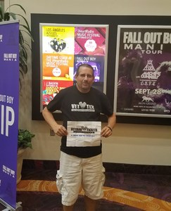 Eric attended Fall Out Boys on Sep 28th 2018 via VetTix