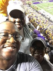 Lawrence, Jennifer & Nicholas McClendon attended LSU Tigers vs. Ole Miss - NCAA Football on Sep 29th 2018 via VetTix
