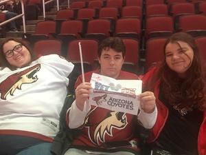 Brian attended Arizona Coyotes vs. Buffalo Sabres - NHL on Oct 13th 2018 via VetTix