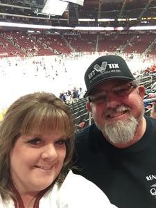 Harvey attended Arizona Coyotes vs. Buffalo Sabres - NHL on Oct 13th 2018 via VetTix