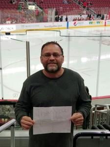 Ramon attended Arizona Coyotes vs. Buffalo Sabres - NHL on Oct 13th 2018 via VetTix