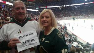 Mark attended Arizona Coyotes vs. Buffalo Sabres - NHL on Oct 13th 2018 via VetTix