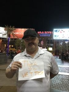 Clint attended Arizona Coyotes vs. Buffalo Sabres - NHL on Oct 13th 2018 via VetTix