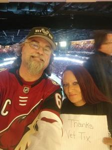 david attended Arizona Coyotes vs. Buffalo Sabres - NHL on Oct 13th 2018 via VetTix