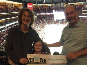 Mark attended Arizona Coyotes vs. Buffalo Sabres - NHL on Oct 13th 2018 via VetTix