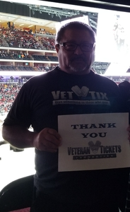 Lorenzo attended Arizona Coyotes vs. Buffalo Sabres - NHL on Oct 13th 2018 via VetTix