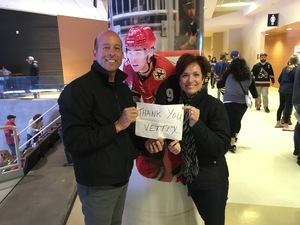 Frederick attended Arizona Coyotes vs. Buffalo Sabres - NHL on Oct 13th 2018 via VetTix