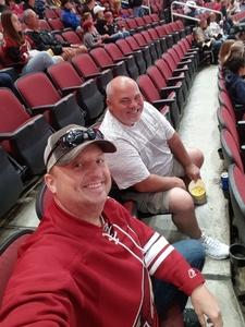 Douglas attended Arizona Coyotes vs. Buffalo Sabres - NHL on Oct 13th 2018 via VetTix