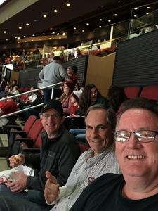 James attended Arizona Coyotes vs. Buffalo Sabres - NHL on Oct 13th 2018 via VetTix