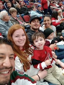 Leonides attended Arizona Coyotes vs. Buffalo Sabres - NHL on Oct 13th 2018 via VetTix