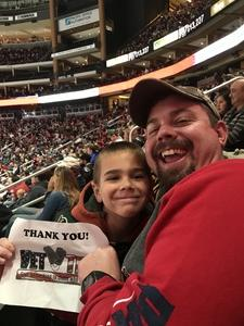 Parker attended Arizona Coyotes vs. Buffalo Sabres - NHL on Oct 13th 2018 via VetTix
