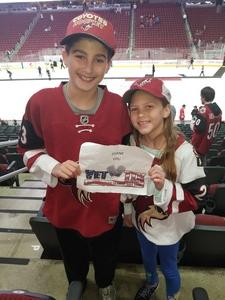 Gary attended Arizona Coyotes vs. Buffalo Sabres - NHL on Oct 13th 2018 via VetTix
