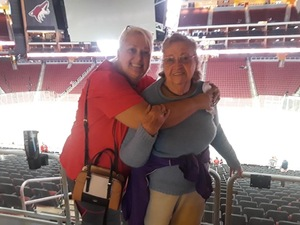 Anita attended Arizona Coyotes vs. Buffalo Sabres - NHL on Oct 13th 2018 via VetTix