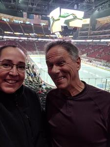 Calista attended Arizona Coyotes vs. Buffalo Sabres - NHL on Oct 13th 2018 via VetTix