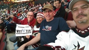Rich attended Arizona Coyotes vs. Buffalo Sabres - NHL on Oct 13th 2018 via VetTix