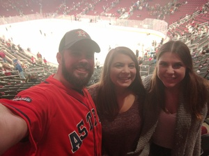 Kyle attended Arizona Coyotes vs. Buffalo Sabres - NHL on Oct 13th 2018 via VetTix