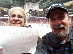 Matthew attended Arizona Coyotes vs. Buffalo Sabres - NHL on Oct 13th 2018 via VetTix