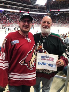 John attended Arizona Coyotes vs. Buffalo Sabres - NHL on Oct 13th 2018 via VetTix